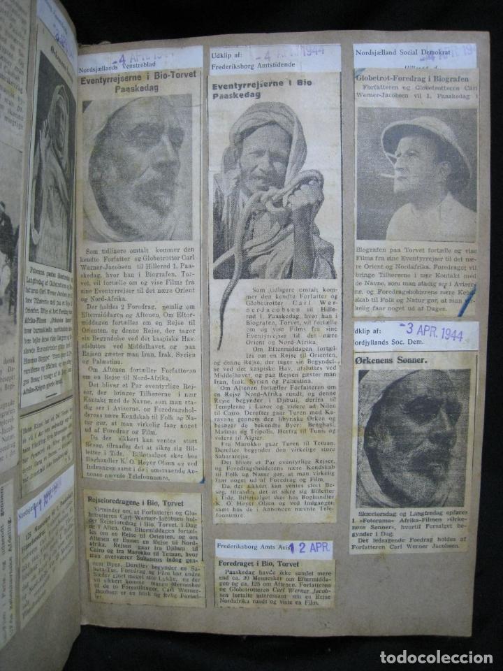 Coleccionismo de Revistas y Periódicos: CARL WERNER JACOBSEN. ALBUM DE NOTICIAS Y RECORTES DE SUS VIAJES 1943-1945 - Foto 3 - 244526145