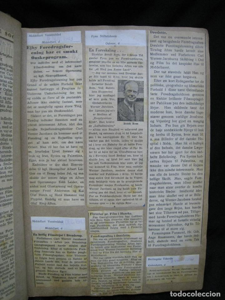 Coleccionismo de Revistas y Periódicos: CARL WERNER JACOBSEN. ALBUM DE NOTICIAS Y RECORTES DE SUS VIAJES 1943-1945 - Foto 4 - 244526145