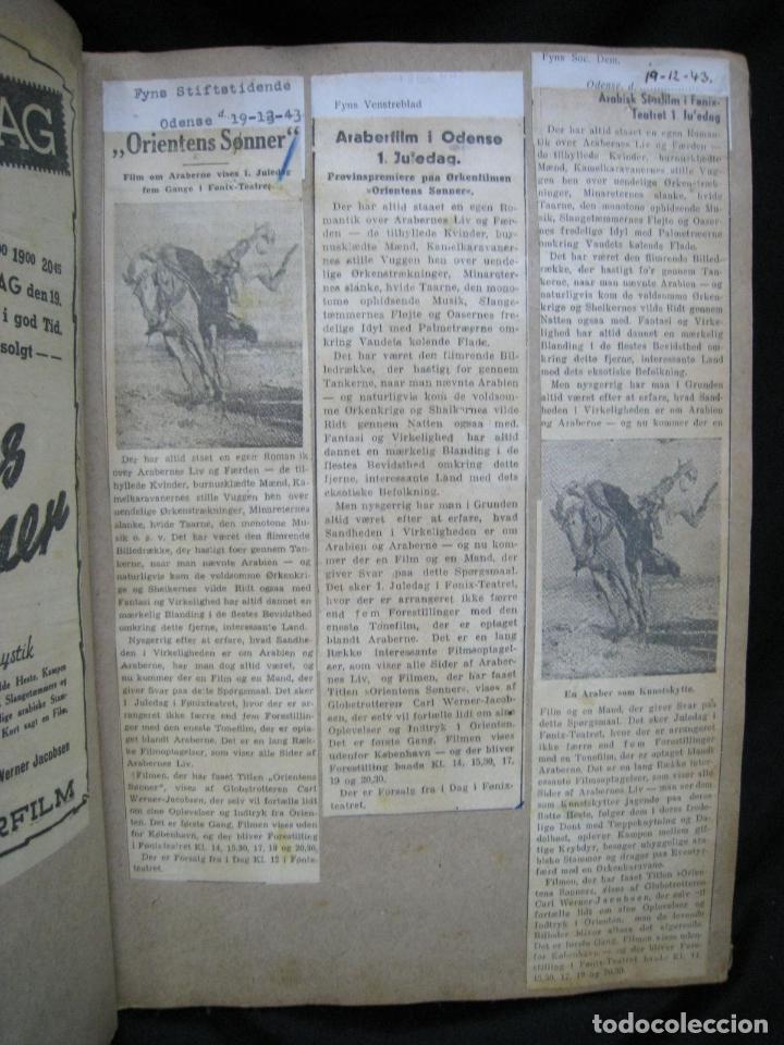 Coleccionismo de Revistas y Periódicos: CARL WERNER JACOBSEN. ALBUM DE NOTICIAS Y RECORTES DE SUS VIAJES 1943-1945 - Foto 5 - 244526145