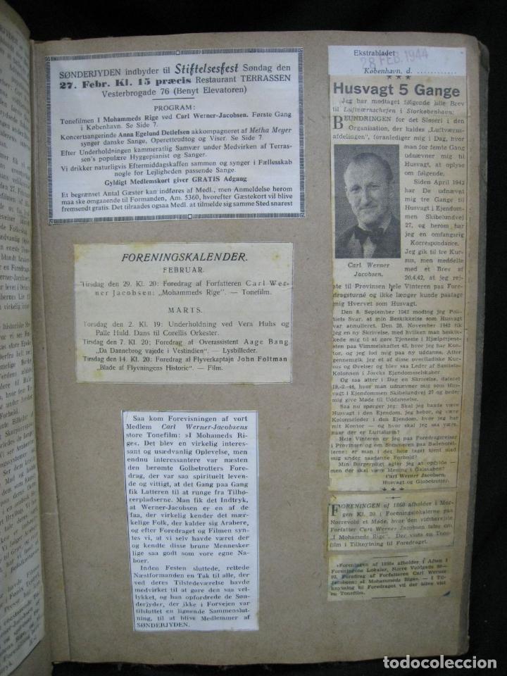 Coleccionismo de Revistas y Periódicos: CARL WERNER JACOBSEN. ALBUM DE NOTICIAS Y RECORTES DE SUS VIAJES 1943-1945 - Foto 6 - 244526145
