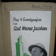 Coleccionismo de Revistas y Periódicos: CARL WERNER JACOBSEN. ALBUM DE NOTICIAS Y RECORTES DE SUS VIAJES 1943-1945. Lote 244526145