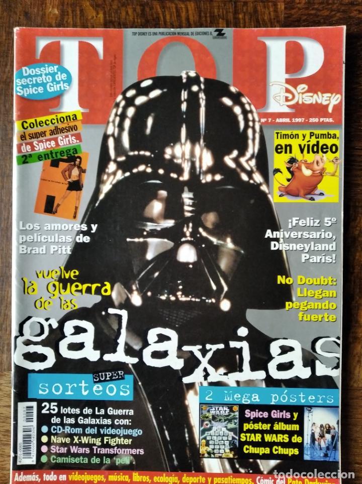 TOP DISNEY Nº 7 DE 1997- STAR WARS, JUGUETES Y CINE- PATO DARKWING- MOTOS CRIVILLE.. ELLA BAILA SOLA (Coleccionismo - Revistas y Periódicos Modernos (a partir de 1.940) - Otros)