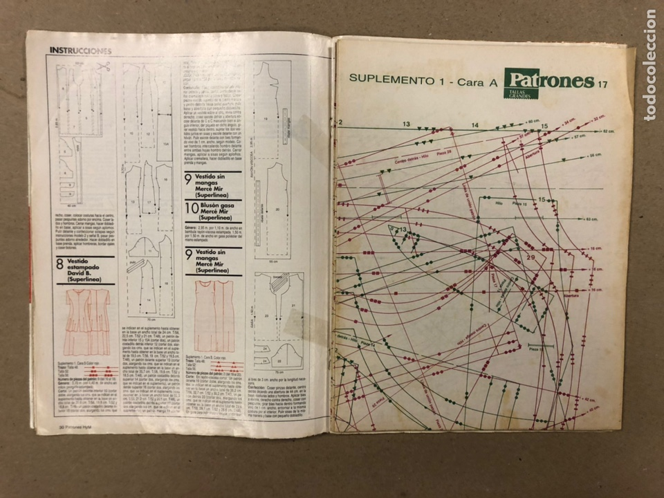 Coleccionismo de Revistas y Periódicos: PATRONES ESPECIALES TALLAS GRANDES N° 17 (2000). LA MODA MÁS COMPLETA. INCLUYE PATRONES. - Foto 2 - 287766083