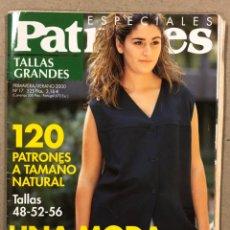 Coleccionismo de Revistas y Periódicos: PATRONES ESPECIALES TALLAS GRANDES N° 17 (2000). LA MODA MÁS COMPLETA. INCLUYE PATRONES.. Lote 287766083