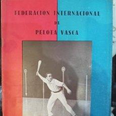 Coleccionismo de Revistas y Periódicos: 1951 ENERO BOLETÍN Nº3 FEDERACIÓN INTERNACIONAL DE PELOTA VASCA. Lote 244592360