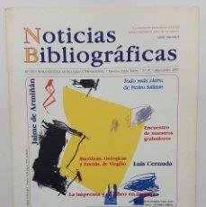 Coleccionismo de Revistas y Periódicos: NOTICIAS BIBLIOGRÁFICAS Nº 87 2002. ENTREVISTA JAIME DE ARMIÑAN. BIBLIOTECA HIST. MARQUES VALDECILLA. Lote 244611735