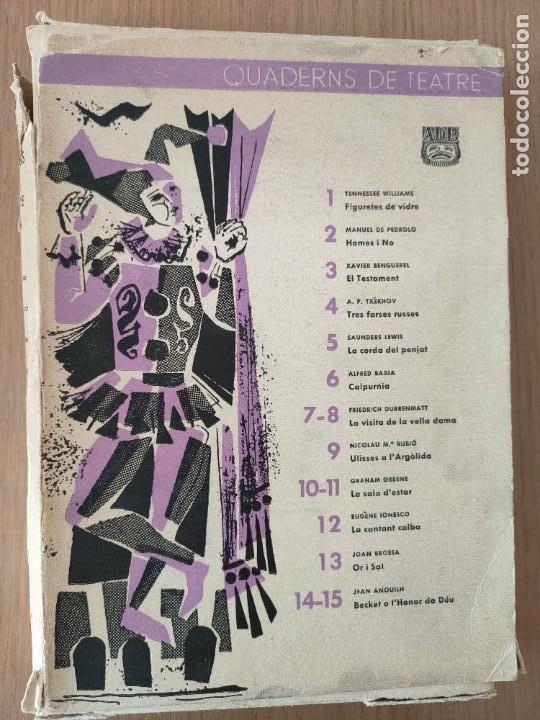 QUADERNS DE TEATRE (Coleccionismo - Revistas y Periódicos Modernos (a partir de 1.940) - Otros)