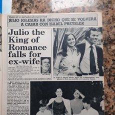 Coleccionismo de Revistas y Periódicos: JULIO IGLESIAS ISABEL PREYSLER. Lote 244749370