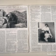 Coleccionismo de Revistas y Periódicos: ENTREVISTA ORIGINAL REVISTA CIRCA 1914 A DON RAMON DEL VALLE INCLAN. Lote 244872420