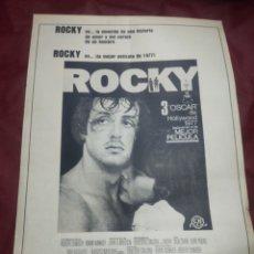 Coleccionismo de Revistas y Periódicos: CINE ROCKY PELÍCULA 1977.. Lote 244884870