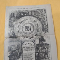 Collezionismo di Riviste e Giornali: CALENDARI DELS PAGESOS - AÑO 1934 - EN CATALAN. Lote 244983785