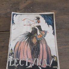 Coleccionismo de Revistas y Periódicos: REVISTA LECTURAS MARZO 1924. Lote 245018810