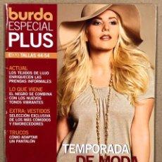 Coleccionismo de Revistas y Periódicos: BURDA ESPECIAL PLUS E970 TALLAS 44-54. TEMPORADA DE MODA PRIMAVERA VERANO. INCLUYE PATRONES.. Lote 287765823