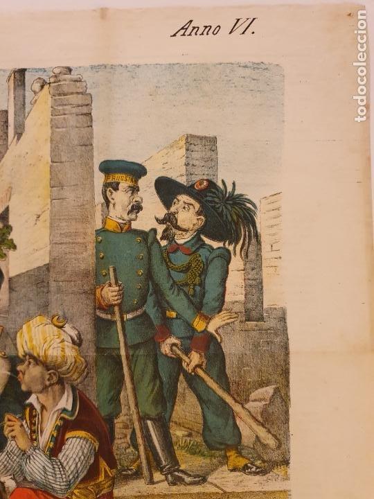 Coleccionismo de Revistas y Periódicos: LE PERROQUET - DIARIO SATÍRICO - ILUSTRACIÓN PARTIDA DE CARTAS / NAIPES - 1878 - 30,5 X 40 CM. - Foto 5 - 245132615