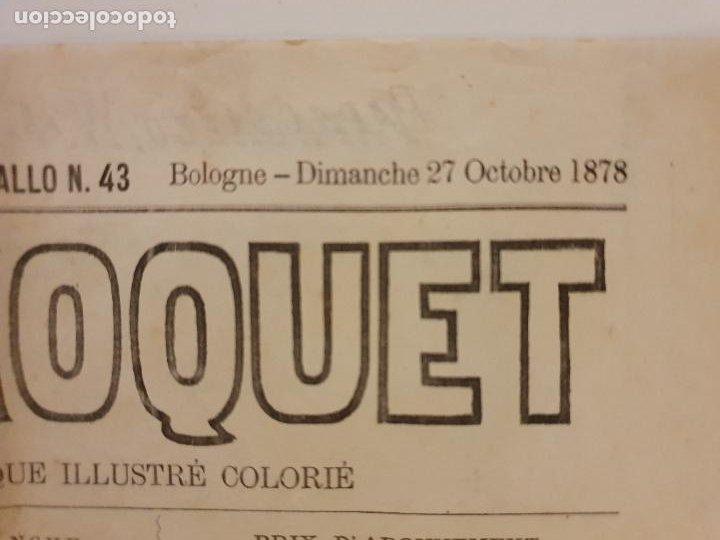 Coleccionismo de Revistas y Periódicos: LE PERROQUET - DIARIO SATÍRICO - ILUSTRACIÓN PARTIDA DE CARTAS / NAIPES - 1878 - 30,5 X 40 CM. - Foto 7 - 245132615