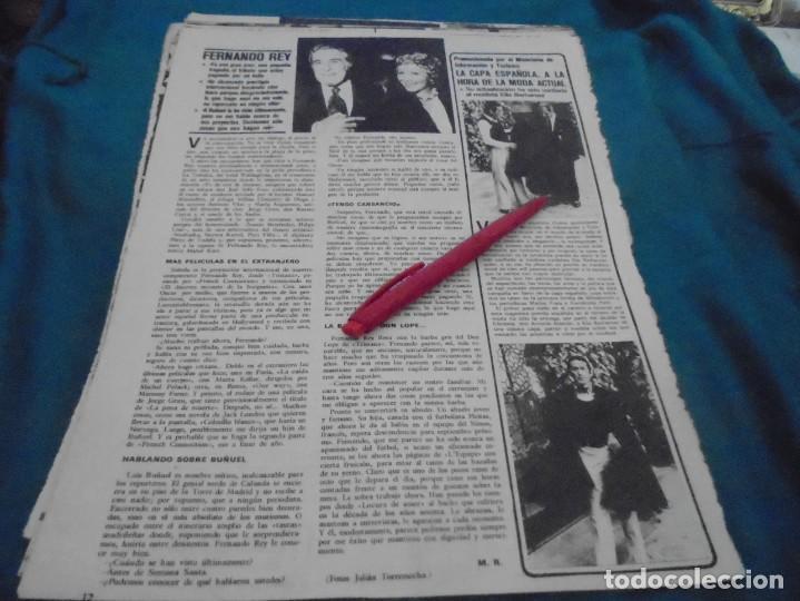 RECORTE : LA CAPA ESPAÑOLA. FERNANDO REY. SEMANA, MAYO 1973 (#) (Coleccionismo - Revistas y Periódicos Modernos (a partir de 1.940) - Otros)