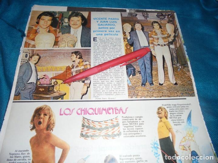 RECORTE : VICENTE PARRA Y LUAN LUIS GALIARDO JUNTOS EN PELICULA. SEMANA, MAYO 1973 (#) (Coleccionismo - Revistas y Periódicos Modernos (a partir de 1.940) - Otros)