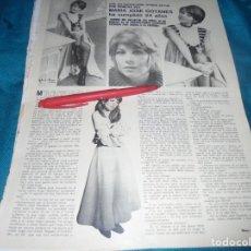 Coleccionismo de Revistas y Periódicos: RECORTE : MARIA JOSE GOYANES, CUMPLE 24 AÑOS. SEMANA, MAYO 1973 (#). Lote 245199195