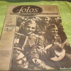 Coleccionismo de Revistas y Periódicos: FOTOS, SEMANARIO GRAFICO. Nº 239, 27 SPTMBRE 1941. LA DIVISION AZUL. Lote 245258620