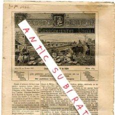 Coleccionismo de Revistas y Periódicos: REVISTA AÑO 1884 FARO ELECTRICO ELECTRICIDAD ZAPOTILLO AGUAS MINERALES MARMOLEJO. Lote 245307490