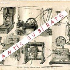 Coleccionismo de Revistas y Periódicos: REVISTA 1884 FARMACOPEA FARMACIA ESPAÑOLA ORIGEN Y APLICACION DE LA ELECTRICIDAD PRIMERAS MAQUINAS. Lote 245308105