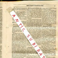 Coleccionismo de Revistas y Periódicos: REVISTA AÑO 1884 FERROCARRIL DE VILLALBA A SEGOVIA DESACACION DE LA FRUTA REMEDIO PARA LA FILOXERA. Lote 245308380
