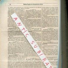 Coleccionismo de Revistas y Periódicos: REVISTA AÑO 1884 REMIDIO PARA LA FILOXERA ORIGENES Y APLICACIONES DE LA ELECTRICIDAD. Lote 245308765