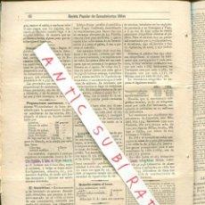 Coleccionismo de Revistas y Periódicos: REVISTA AÑO 1884 INVENTOS FOTOTELEFONO TELEFONO VINO DE NARANJA PROFILAXIS DEL COLERA. Lote 245309500