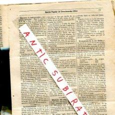 Coleccionismo de Revistas y Periódicos: REVISTA AÑO 1884 TOS FERINA PASTEUR CUTIVO DE MICROBIOS COLERA VIRUELA INSECTICIDA YESO COMO ABONO. Lote 245309765