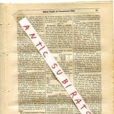Coleccionismo de Revistas y Periódicos: REVISTA AÑO 1884 ELECTRICIDAD LAS UNIDADES ELECTRICAS. Lote 245309940