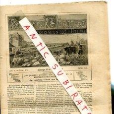 Coleccionismo de Revistas y Periódicos: REVISTA AÑO 1884 ESPIRITISMO Y LOS EXPERIMENTOS DEL DR COOKES EL CONDE DE VILLIERS ISLE ADAM. Lote 245310170