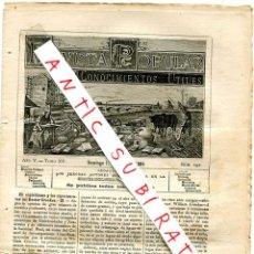 Coleccionismo de Revistas y Periódicos: REVISTA 1884 ESPIRITISMO COOKES EL CONDE DE VILLIERS ISLE ADAM CULTIVO PATATA PRIFILAXIS DIFTERIA. Lote 245310430