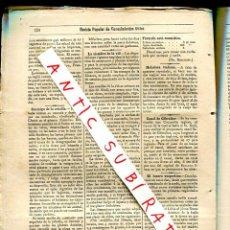Coleccionismo de Revistas y Periódicos: REVISTA AÑO 1884 CANAL TUNEL DE GIBRALTAR SIEMBRE DE LA VID VINO LUCERO VESPERTINO CALDERAS DE VAPOR. Lote 245310795