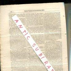 Coleccionismo de Revistas y Periódicos: REVISTA POPULAR AÑO 1884 MEDICINA VIRUS DE LA RABIA EL COLERA. Lote 245310930