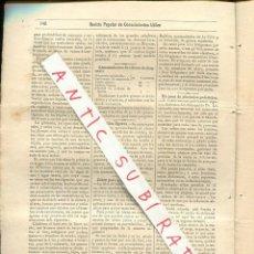 Coleccionismo de Revistas y Periódicos: REVISTA AÑO 1884 INGERTO DE LOS ROSALES ROSAS INCUBADORAS ELECTRICAS CABRLE DE CANARIAS A SENEGAL. Lote 245311130