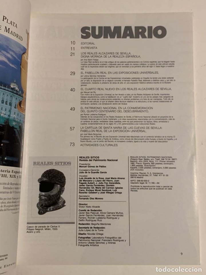 Coleccionismo de Revistas y Periódicos: REVISTA REALES SITIOS - PATRIMONIO NACIONAL - AÑO XXIX Nº111 PRIMER TRIMESTRE 1992 - Foto 3 - 245374605