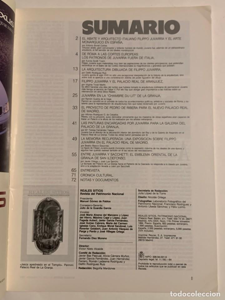 Coleccionismo de Revistas y Periódicos: REVISTA REALES SITIOS - PATRIMONIO NACIONAL - AÑO XXXI Nº119 TERCER TRIMESTRE 1994 - Foto 3 - 245375625