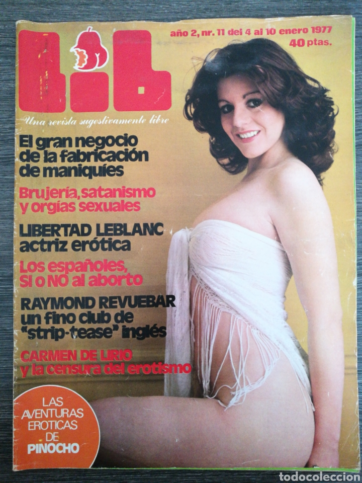 REVISTA LIB N.º 11 1977 BEATRIZ ROSAT, ALEXANDER CUTTING, CARMEN DE LIRIO, LIBERTAD LEBLANC (Coleccionismo - Revistas y Periódicos Modernos (a partir de 1.940) - Otros)
