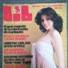 Coleccionismo de Revistas y Periódicos: REVISTA LIB N.º 11 1977 BEATRIZ ROSAT, ALEXANDER CUTTING, CARMEN DE LIRIO, LIBERTAD LEBLANC. Lote 245375755