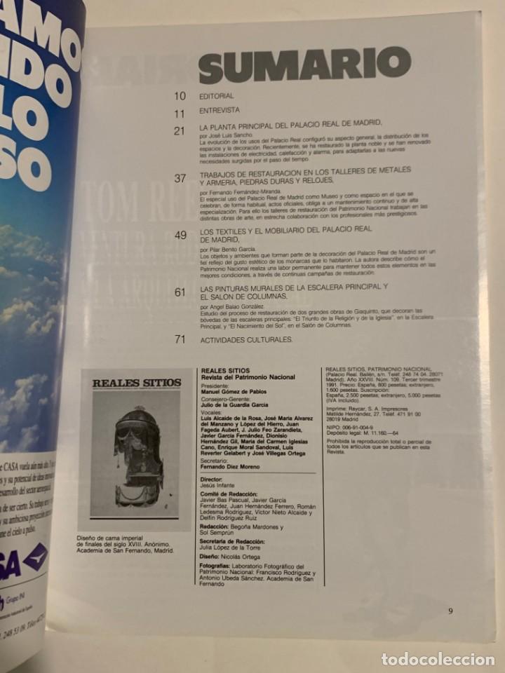 Coleccionismo de Revistas y Periódicos: REVISTA REALES SITIOS - PATRIMONIO NACIONAL - AÑO XXVIII Nº109 TERCER TRIMESTRE 1991 - Foto 3 - 245375870
