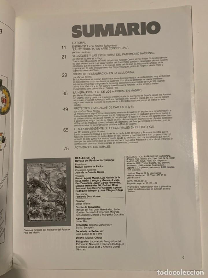 Coleccionismo de Revistas y Periódicos: REVISTA REALES SITIOS - PATRIMONIO NACIONAL - AÑO XXVII Nº104 SEGUNDO TRIMESTRE 1990 - Foto 3 - 245376305