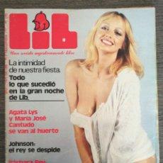 Coleccionismo de Revistas y Periódicos: REVISTA LIB N.º 54 1977 MARÍA JOSÉ CANTUDO, AGATA LYS, BÁRBARA REY, ROSA MORENA, EVA LEÓN, BIRKIN. Lote 245376395