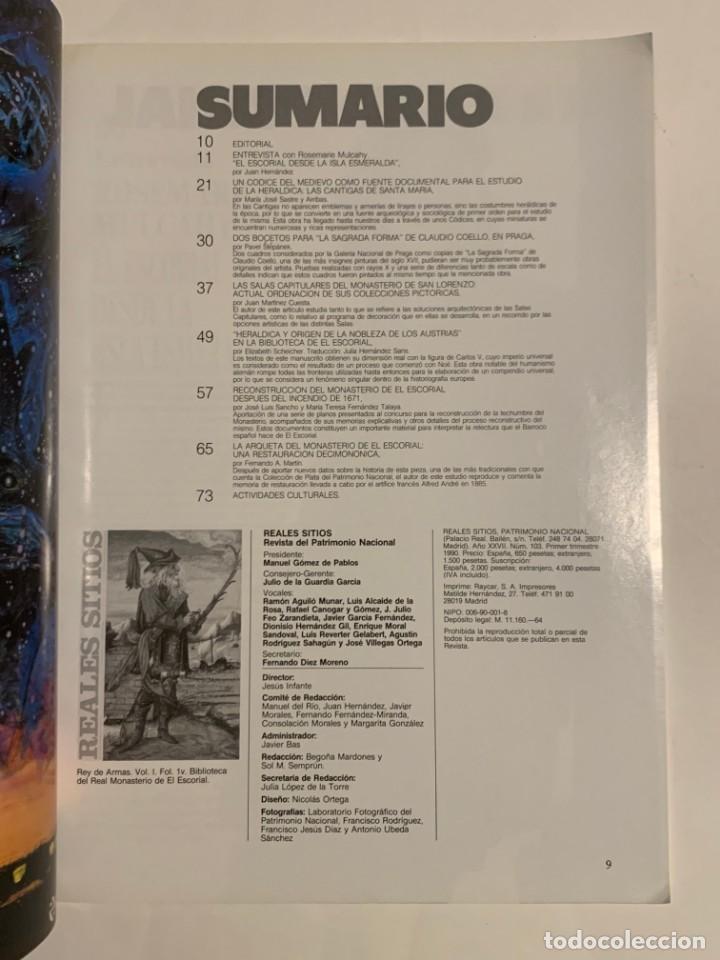 Coleccionismo de Revistas y Periódicos: REVISTA REALES SITIOS - PATRIMONIO NACIONAL - AÑO XXVII Nº103 PRIMER TRIMESTRE 1990 - Foto 3 - 245376470