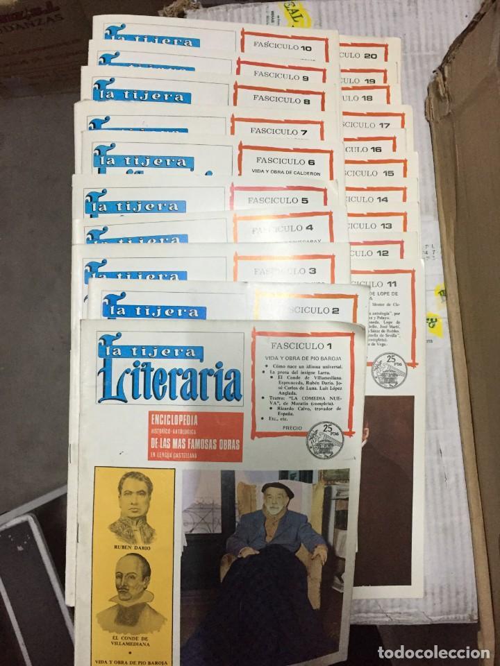 LOTE DE 20 FASCISCULOS DEL NUMERO 1 AL 20 DE LA REVISTA LA TIJERA LITERARIA (Coleccionismo - Revistas y Periódicos Modernos (a partir de 1.940) - Otros)