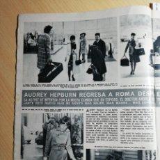 Coleccionismo de Revistas y Periódicos: AUDREY HEPBURN. RECORTE REVISTA. Lote 245462355