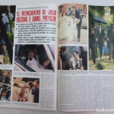 Coleccionismo de Revistas y Periódicos: RECORTE CLIPPING DE JULIO IGLESIAS E ISABEL PREYSLER REVISTA SEMANA Nº 2155 PAG. 78 Y 79 L29. Lote 245547355
