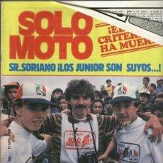 Coleccionismo de Revistas y Periódicos: SOLO MOTO NUMERO 262. Lote 245593835