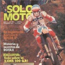 Coleccionismo de Revistas y Periódicos: SOLO MOTO NUMERO 278. Lote 245594660