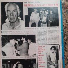 Coleccionismo de Revistas y Periódicos: LEE MARVIN JULIO IGLESIAS. Lote 245606170