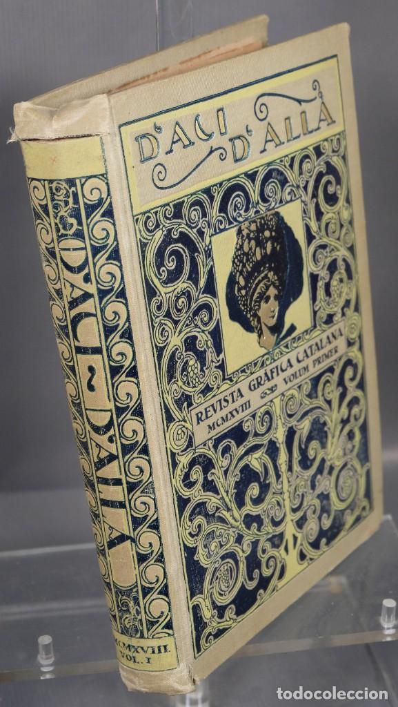 Coleccionismo de Revistas y Periódicos: D'Aci D'Alla Revista Gráfica catalana 1918-primer volumen - Foto 2 - 245640340